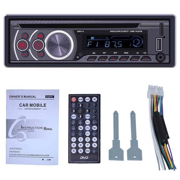 Car Stereo Lettore CD - Single Din Bluetooth Audio e passa liberamente la chiamata MP3 Lettore CD / DVD / VCD USB ingresso AUX AM / FM Radio Re
