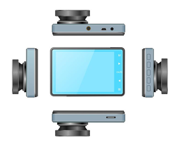 1080P 3.2 inch car dvr IPS screen 170 degree wide angle full glass lens HD screen dual lens driving recorder factory wholesale