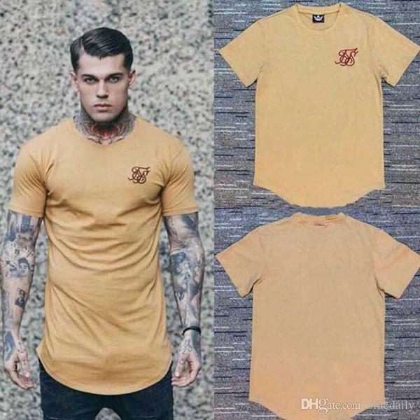 Mode chaud Hommes Hip Hop long T-shirt à manches courtes High Street T-shirts Casual Male Tops T-shirt