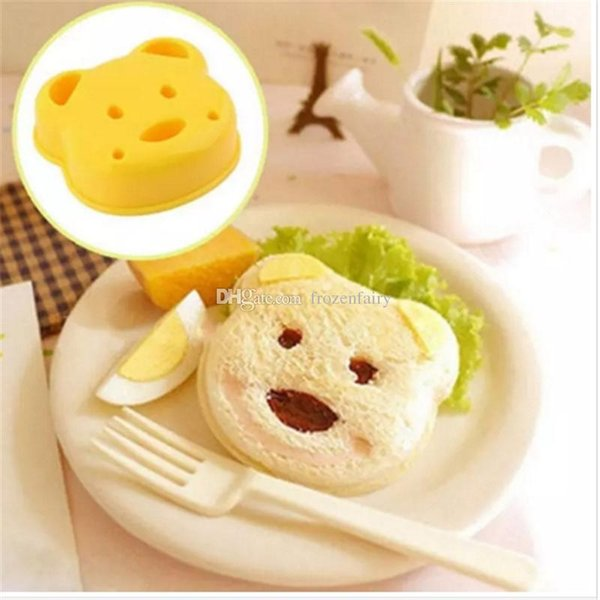 Little Bear Shape Sandwich Mold Bread Biscuits Dispositivo en relieve Cake Mold Maker DIY Molde Cortador al por mayor bb342-349 2018010916