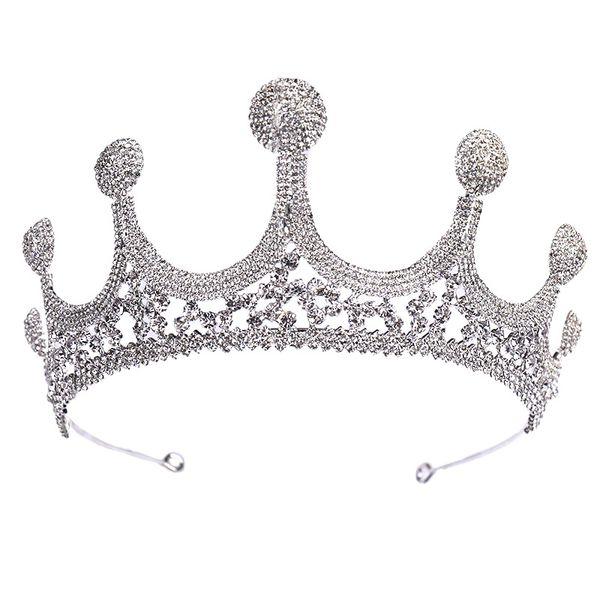 heap Hair Jewelry KMVEXO Stunning Silver Zircon Crystal Rhinestone Royal Princess Wedding Bridal Pageant Prom Tiaras Crowns for Brides He...