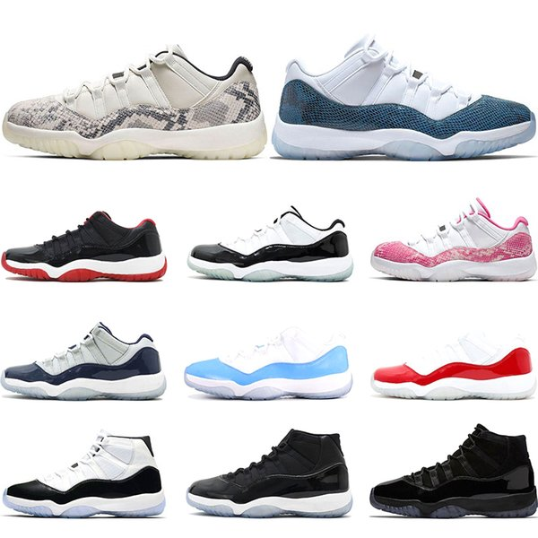 2019 mens Basketball Shoes 11s Snakeskin VAST GREY Concord 45 23 GAMMA BLUE 11 Bred womens sports sneaker trainers Size US 5.5-13