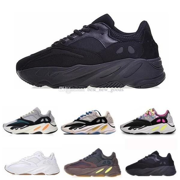 700 V2 Static V1 Mauve Wave Runner Канье Уэст Дизайнерская мужская обувь 700s Спортивные кроссовки Обувь для кроссовок Us 5-11.5 2019