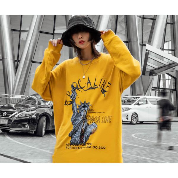 Homens Designer de Moda Hoodies 2019 Primavera Outono Venda Quente Mens Street Style Solto Casual Tops Mens Luxo Impresso Hoodies Roupas Casal