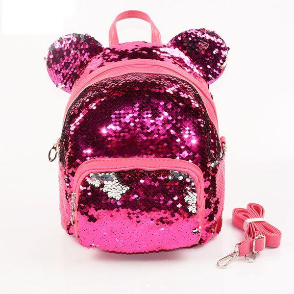 Glitter Women Sequins Backpack Teenage Girls Travel Large Capacity Backpacks Bags Bling Rucksack Children School Bags Bagpack Y19051405