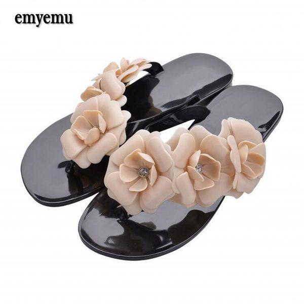 candy color flower Flip Flops Slippers summer flat sandals flower sandles size36-41