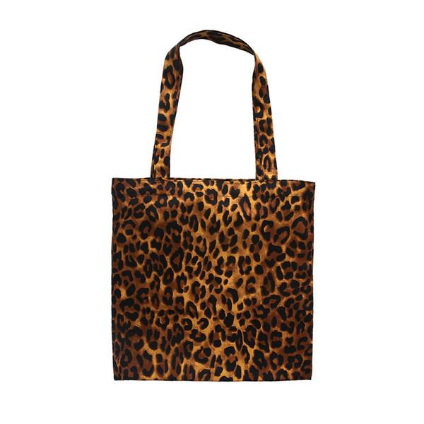 good quality Vintage Leopard Printed Canvas Shoulder Bag Female Fashion Cotton Lady Tote Handbag Large Capacity Wommen Shopping Bag