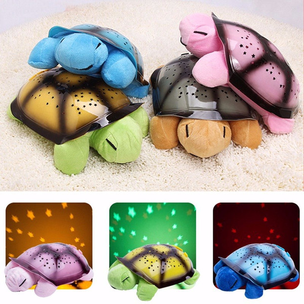 4 Light Music Turtle Lamp LED Night Light Stars Projector USB Operated Song Musical Luminaria Lamp For Baby Room Decoration