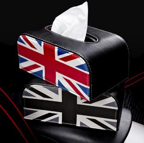 Auto PU interna del tessuto in pelle auto tovagliolo Box Bag pacchetto Box bracciolo bagagli forma per Mini Cooper