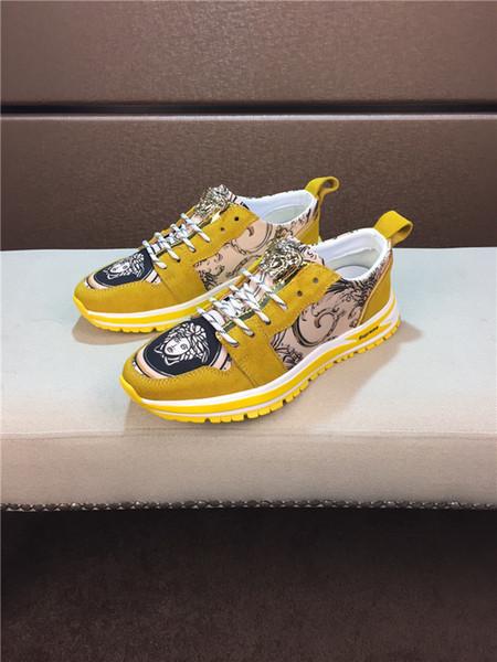 Inverno Novos Homens Chegada Sapatos De Couro De Ouro de Alta-top de Metal Fivela Sapatos Casuais Hot Vendas Homens Moda Medusa