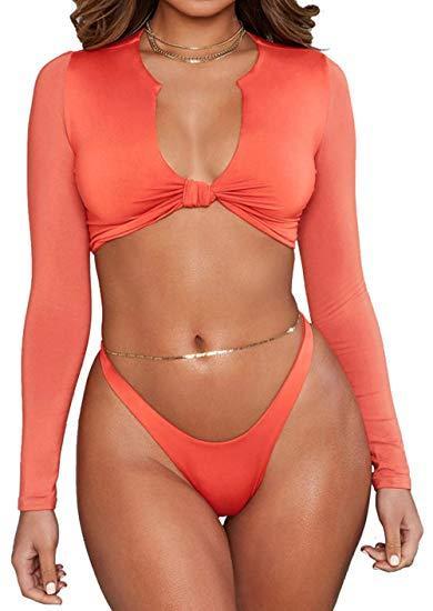 maillots de bain cravate orange