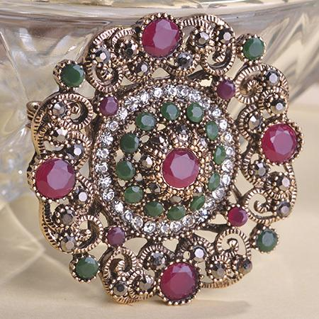 brooch pins Blucome New Year Round Flower Brooches Pins Up Turkish Jewelry For Lady Women Accessories CZ Zircon Delicate Gifts Mujer Brooch