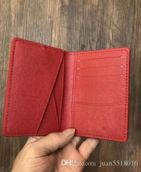 Excellent Quality Pocket Organiser Nm Red Black Graphite M60502 Mens Real Leather Wallets Card Holder N62155 Purse Id Wallet Bifold Bags