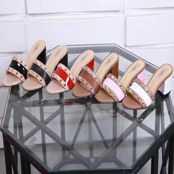 Nouvelle mode coréenne sauvage sandales à talons hauts anti-dérapantes très confortables talons hauts en cuir de luxe tendance Taille 34-42 nombre: 35