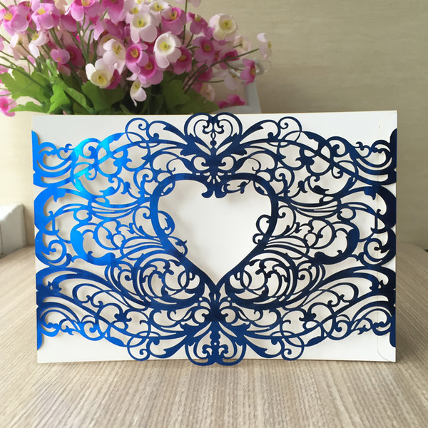 European Luxury Wedding Engagements Invitation Card Envelope Decoration Tradition Party Valentine S Gifts Cards Christmas Invitations Supply Wording