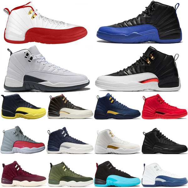 2019 New Reverse Taxi Game Royal 12 12s Basketball Shoes FIBA Bumblebee GS CNY Michigan White Grey Gym Red Mens Trainers Designer Sneaker
