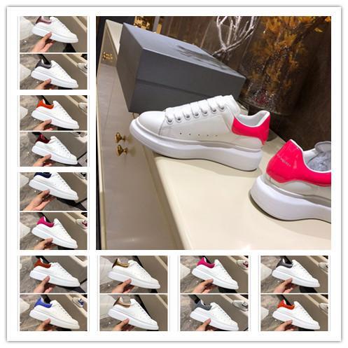 [Com Caixa] 2019 Tamanho SUPERIOR 35-44 Homem Mulher Sapato Designer Branco Sapatilha Exclusiva de Grandes Dimensões Italiano Sapato De Luxo Unisex Sapatos Casuais Tênis
