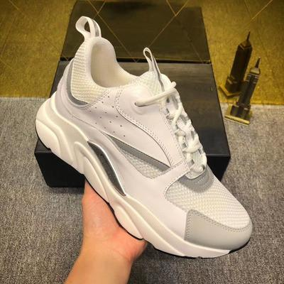 2019 new 3D reflective canvas and calfskin sports shoes from Europe Trendy fashion sports B22 men's technical casual shoes 091