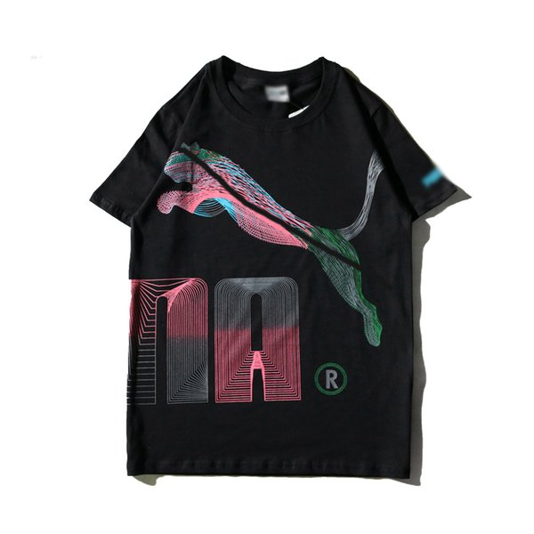 HummerTshirt Verão Mens Designer Camisetas Marca Listrado Grande Impressão Gato Camiseta Rua HipHop Tendência T-shirt de Algodão De Luxo Casual Selvagem T camisas