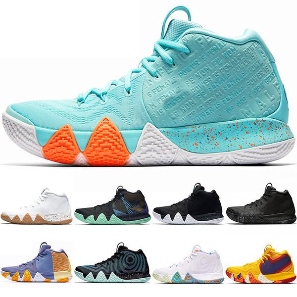 4s Kyrie Irving sorte charme Mens sapatos de basquete Confetti BHM EQUIDADE All-Star March Madness City Guardiões London Designer Tênis 40-45