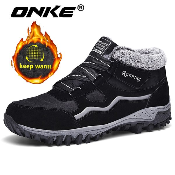onke super warm winter boots for mens waterproof sneakers man outdoor antiskid snow boots big size 35-47 new