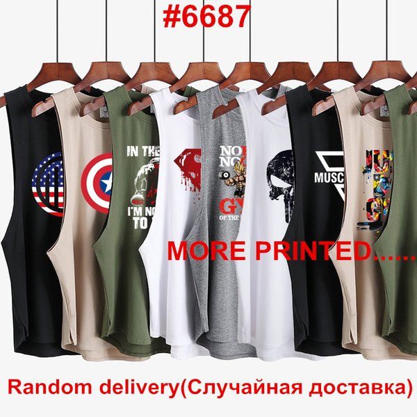 3Pcs/Lot 2019 Clothes Brand Gyms Singlet Canotte Bodybuilding Stringer Tank Top Men Fitness Shirt Muscle Sleeveless Vest Y19042204