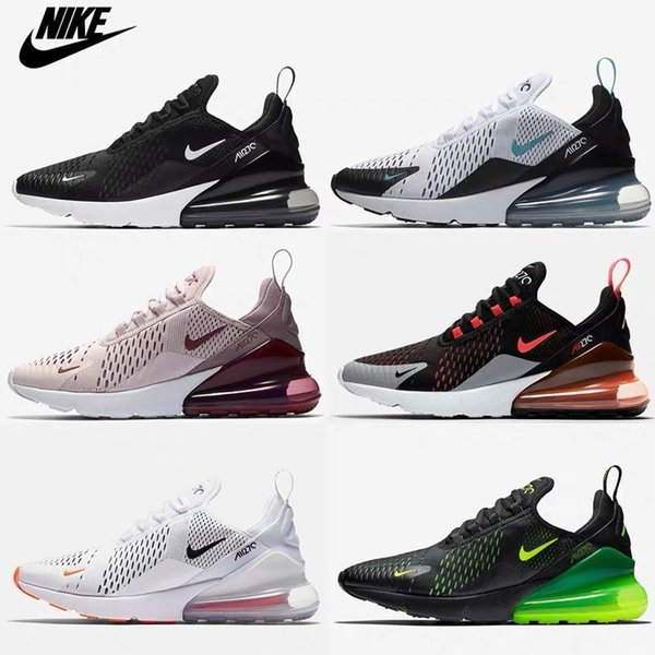 top popular 2019 Best Quality 270 Triple Black All White Men and Women Sport Shoes Air Running Shoes Off Maxes Trainers Top Vaspos TN 97 Sneakers 2020