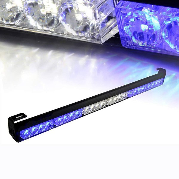 Light Bar 12V Mavi Beyaz Alarm Oto Kamyon 27 '' 24 LED Acil Trafik Danışmanı Flaş Strobe Light Bar