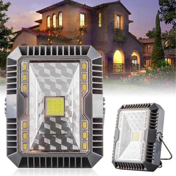 Lanterna portátil Solar Charging Lanterna Luz Camping Tent Luz Camping USB + Outdoor portátil Hanging Lamp Solar Led lanterna