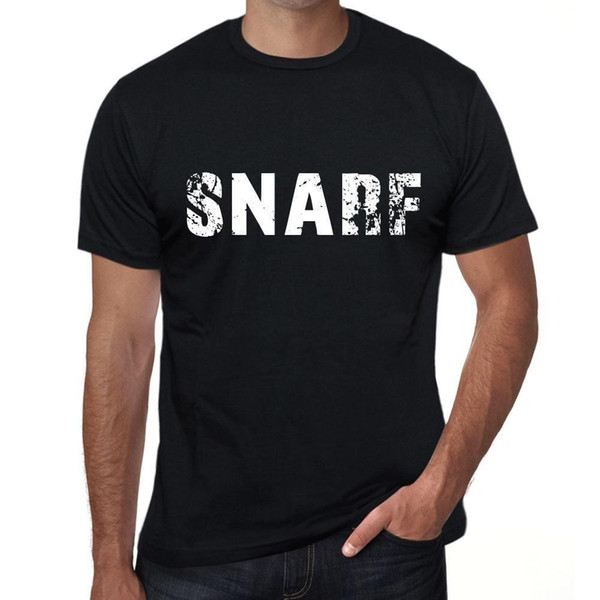 Snarf Hombre Camiseta Negro Regalo De Cumpleaños 00553