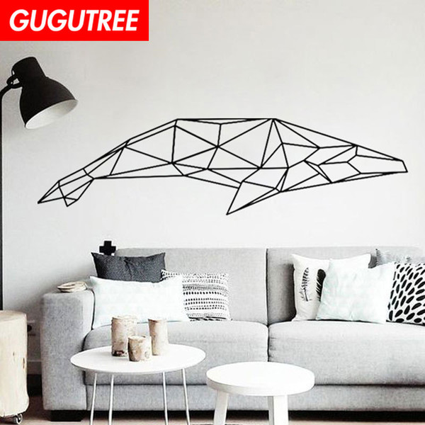 Decorate Home whale cartoon art wall sticker decoration Decals mural painting Removable Decor Wallpaper G-1815