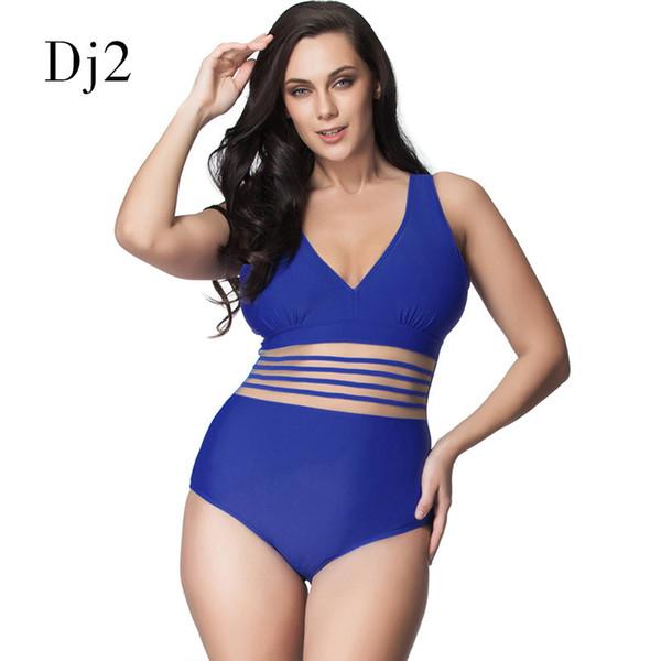 Sexy One Piece Swimsuit Women Plus Size Deep V Swimwear Transparent Lace Bandage Plus Size Bathing Suit Women One Piece Monokini Y19062901