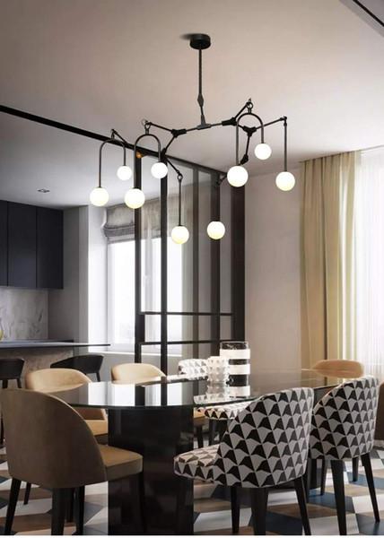 La moderna lámpara de araña llevó luces LED de techo Lámpara de iluminación para la sala de estar lámparas de cristal Dormitorio casa G4 Accesorios de iluminación