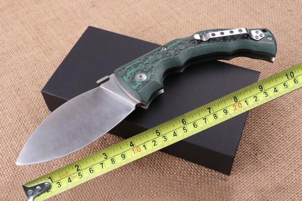 Aço frio Folding Tactical Faca 5CR15MOV Lâmina Mikata Handle Ao Ar Livre Ferramentas de Bolso de Sobrevivência Militar Utilitário EDC Facas Dogleg P185Q R