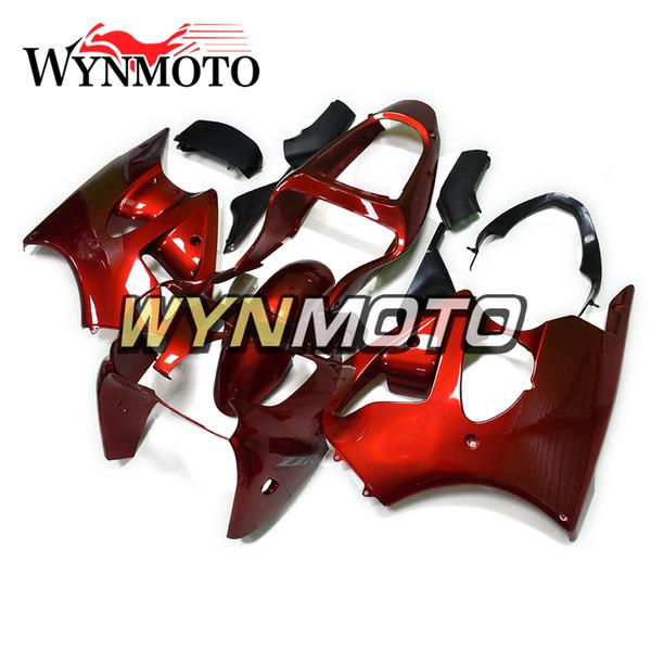 Kit completo de carenado para Kawasaki ZZR600 2005 2006 2007 2008 NINJA ZZR-600 05 08 Inyección ABS Plástico Motocicleta Carrocería Shinny Rojo Coberturas