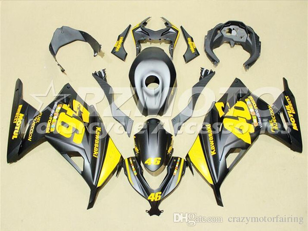 3 Free gifts New Injection ABS Motorcycle Fairing kit For KAWASAKI Ninja300 EX300 2013 2014 2015 Fairings Bodywork set black Yellow h2