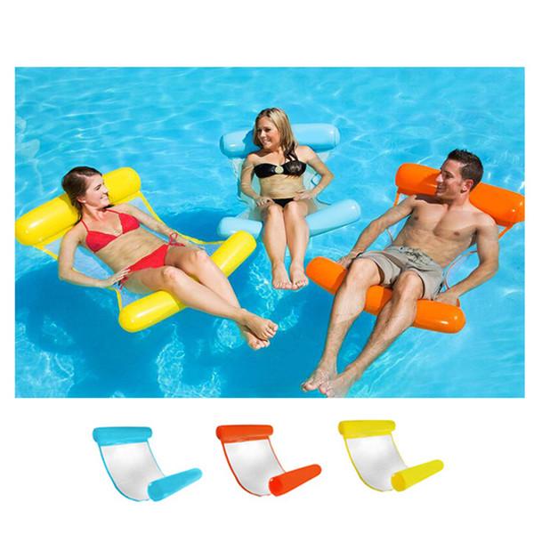 Yeni Yaz Yüzer Su Hamak Şamandıra Şezlong Şişme Yüzen Yatak Plaj Yüzme Havuzu Salonu Şamandıra Yatak Sandalye Çocuk Yetişkinler