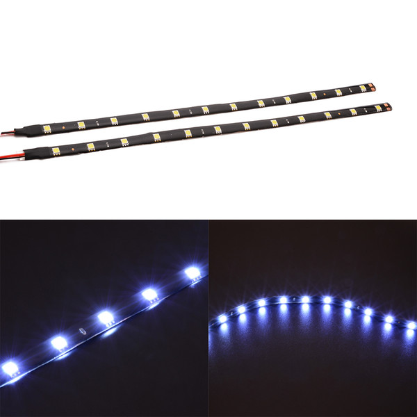 UK 30cm 5050 LED 15SMD Motorcycle Car Flexible Waterproof White Lights Strip