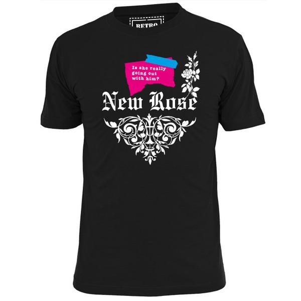 NEW ROSE (V1) MENS T SHIRT PUNK ROCK PISTOLS RUTS CLASH DAMNED cattt windbreaker Pug tshirt