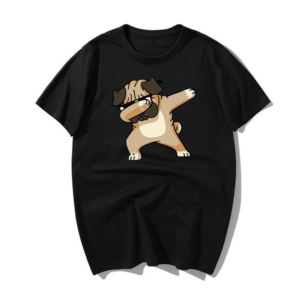 Nouveau 2019 Mode d'été tamponnant PUG T-shirt Harajuku Hauts T-shirt pour hommes en coton à manches courtes T-shirt d'été 2019 Hip Hop T-shirt