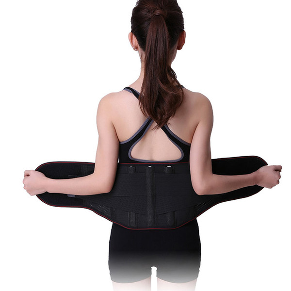 Adjustable Tourmaline Self-Heating Magnetic Therapy Waist Support Belt Lumbar Back Waist Support Brace Double Banded Corsets