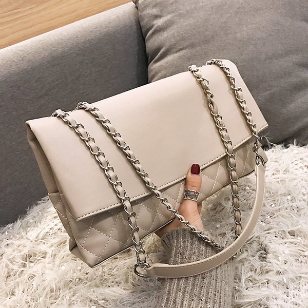 Quality Ladies Leather Handbag Brand Chain Shoulder Bag for Women High Quality Casual Bag 2019 Simple Women Luxury Handbags