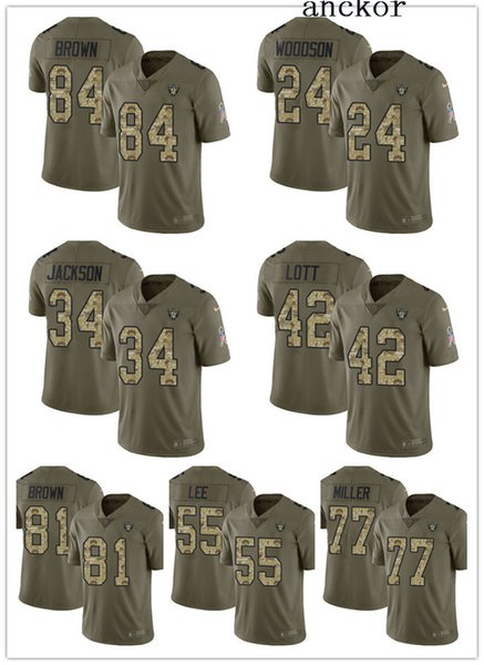 free shipping 651e1 cd59c 2019 Oakland MEN WOMEN YOUTH 84 Antonio Brown 4 Derek Carr Limited Jersey  Football Raiders Olive Camo 2017 Salute To Service From Nomeno, $25.39 | ...