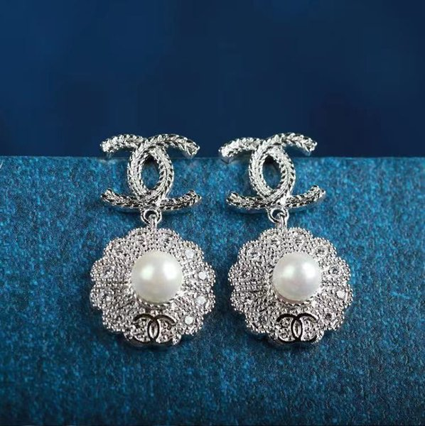 best selling fashion earrings for women black clover stud 925 sterling silver pin high no box