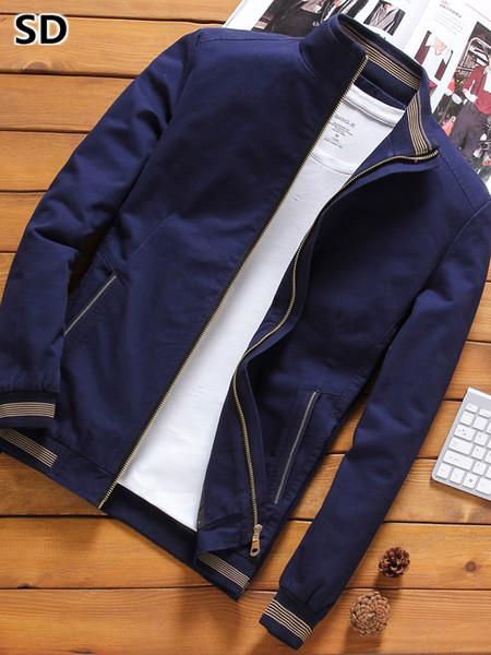 men jacket winter 2018 new Fashion baseball jacket windbreaker motorcycle male outerwear coat for men manteau homme 792