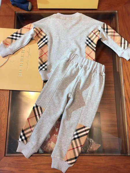 Two Piece Outfits Children's Garment Suit Children Sports Pants Pure Cotton Color Child Twinset Coat Baby Kids suits Clothing smart_kid