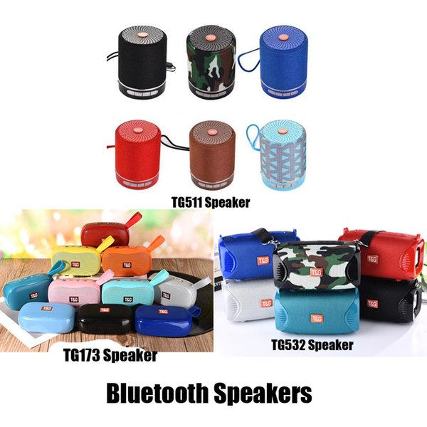 Nouveau TG511 TG532 TG173 parleur sans fil Bluetooth Mini HIFI Caisson de graves Haut-parleurs portables de plein air Soundbar avec Retail Box SF Card Lecteur de musique