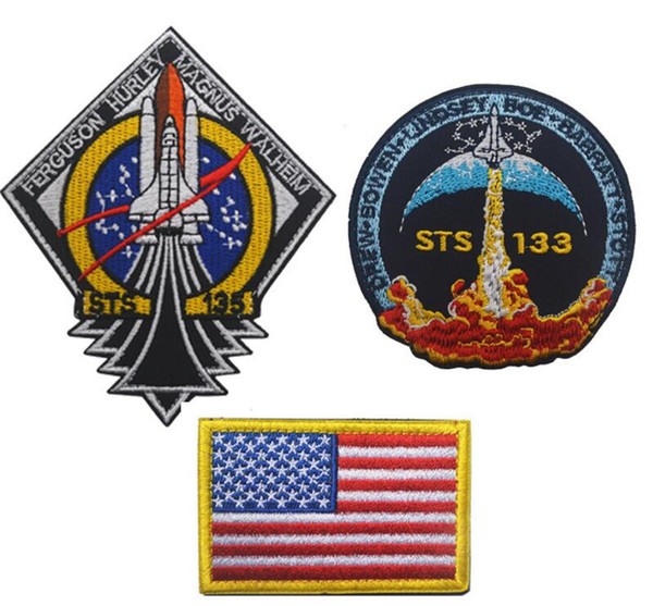 USA Discovery spacecraft series Patch NASA Tactical morale Patch space shuttle Embroidery Patch 100th space shuttlemission Armband