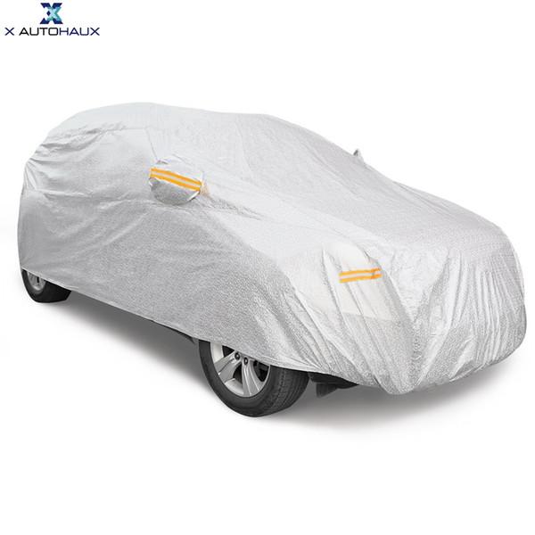 Halb- & Ganzgaragen Transparent Car Cover PE Outdoor Waterproof Scratch Rain Snow Sun Resistant