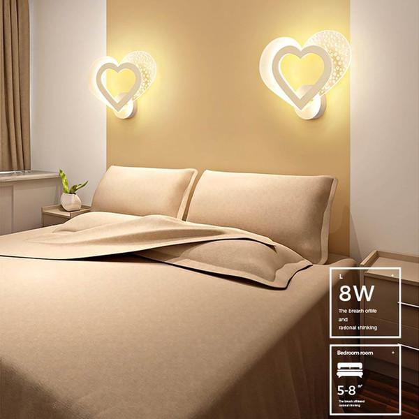 Acheter Brelong Chambre De Mariage Chambre Lumiere De Nuit Simple Moderne Chaleureuse Romantique Amour Personnalite Creative Led Lampe De Chevet Lampe